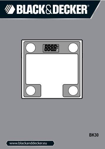BlackandDecker Pese-Personne- Bk30 - Type 1 - Instruction Manual (Européen)