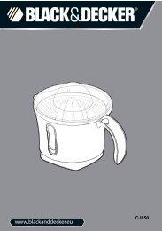BlackandDecker Presse Fruits- Cj650(N) - Type 1 - Instruction Manual (Européen)