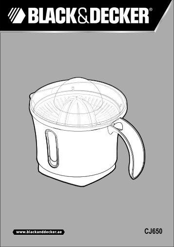 BlackandDecker Presse Fruits- Cj650(N) - Type 1 - Instruction Manual (MEA)