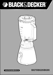 BlackandDecker Mixeur- Bx225 - Type 1 - Instruction Manual