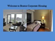 Furnished Apartment to Rent in Boston