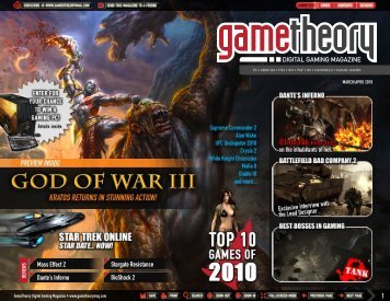March/April 2010 Issue - GameTheory Digital Gaming Magazine