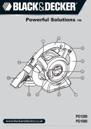 BlackandDecker Aspirateur Port S/f- Pd1080 - Type H2 - Instruction Manual (Anglaise)
