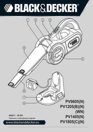 BlackandDecker Aspirateur Port S/f- Pv1805 - Type H2 - Instruction Manual (Roumanie)