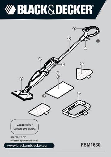 BlackandDecker Balai Laveur Vapeur- Fsm1630bl - Type 1 - Instruction Manual (Tchèque)
