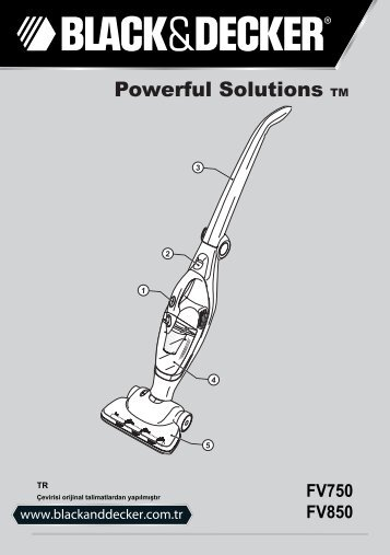 BlackandDecker Aspirateur Sans Fil- Fv850 - Type 1 - Instruction Manual (Turque)