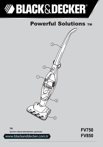 BlackandDecker Aspirateur Sans Fil- Fv750 - Type 1 - Instruction Manual (Turque)
