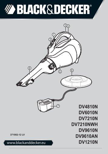 BlackandDecker Aspirateur Port S/f- Dv1210n - Type H1 - Instruction Manual (Lettonie)