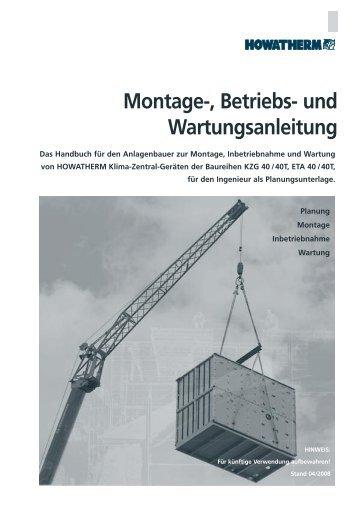 Montage-, Betriebs- und Wartungsanleitung - HOWATHERM