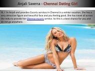 Chennai escorts services by Anjali Saxena