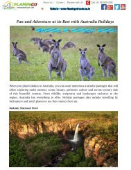 Fun And Adventure At Its Best With Australia Holidays