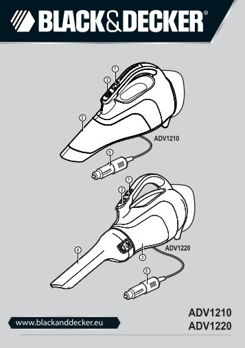 BlackandDecker Aspirateur Auto- Adv1220 - Type H1 - Instruction Manual (Européen Oriental)