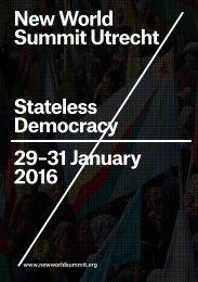New World Summit Utrecht Stateless Democracy 29–31 January 2016