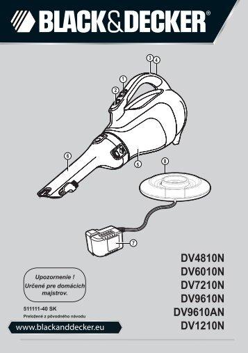 BlackandDecker Aspirateur Port S/f- Dv9610an - Type H1 - Instruction Manual (Slovaque)