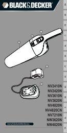 BlackandDecker Aspirateur Port S/f- Nv2410n - Type H1 - Instruction Manual (Européen)