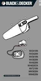 BlackandDecker Aspirateur Port S/f- Nv2410n - Type H1 - Instruction Manual (Anglaise)