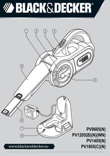 BlackandDecker Aspirateur Port S/f- Pv1205 - Type H2 - Instruction Manual (Européen)