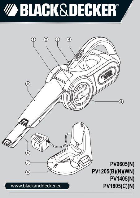 BlackandDecker Aspirateur Port S/f- Pv1205 - Type H2 - Instruction Manual (Européen)