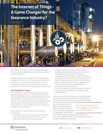 The Internet of Things - A Game Changer for the Insurance Industry?