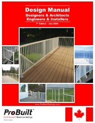 Design Manual - ProBuilt Do-It-Yourself Aluminum Railings