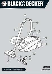 BlackandDecker Aspirateur- Vm2020 - Type 1 - Instruction Manual (Européen)