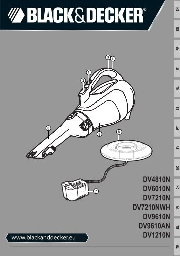 BlackandDecker Aspirateur Port S/f- Dv7210nwh - Type H1 - Instruction Manual (Européen)