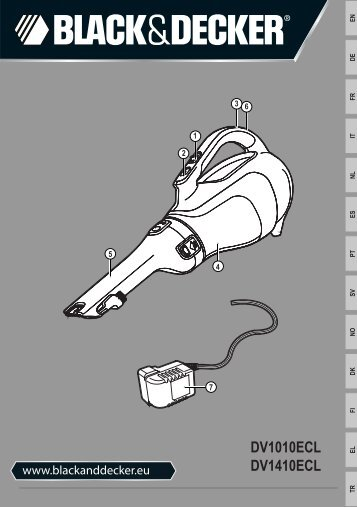 BlackandDecker Aspirateur Port S/f- Dv1010ecl - Type H1 - Instruction Manual (Européen)