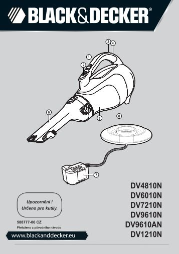 BlackandDecker Aspirateur Port S/f- Dv9610n - Type H1 - Instruction Manual (Tchèque)