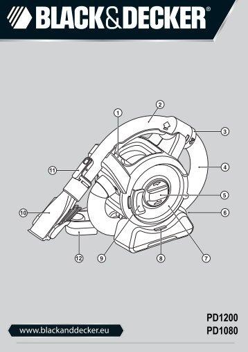 BlackandDecker Aspirateur Port S/f- Pd1200 - Type H2 - Instruction Manual (Européen)