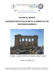 technical report georadar detection of metal elements in the ...