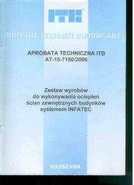 APROBATA TECHNICZNA ITB AT-15-7150l2006 Zestaw ... - Infatec