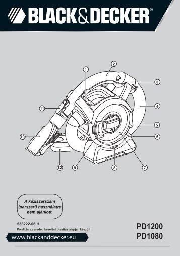 BlackandDecker Aspirateur Port S/f- Pd1080 - Type H1 - Instruction Manual (la Hongrie)