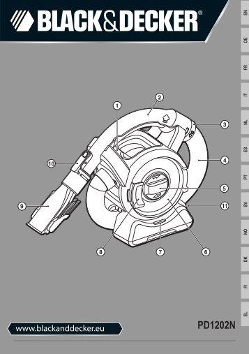 BlackandDecker Aspirateur Port S/f- Pd1202n - Type 1 - Instruction Manual (Européen)