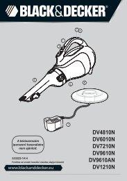 BlackandDecker Aspirateur Port S/f- Dv6010n - Type H1 - Instruction Manual (la Hongrie)