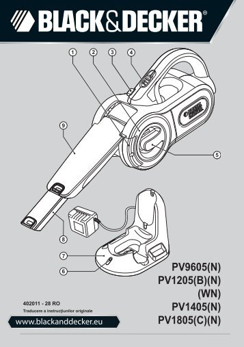 BlackandDecker Aspirateur Port S/f- Pv1205b - Type H2 - Instruction Manual (Roumanie)