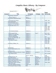 Complete Music Library-Composer - Seward Concert Band Home ...