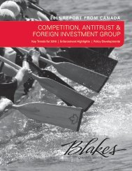 COMPETITION ANTITRUST & FOREIGN INVESTMENT GROUP