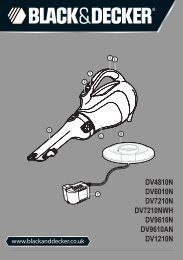 BlackandDecker Aspirateur Port S/f- Dv7210 - Type H1 - Instruction Manual (Anglaise)