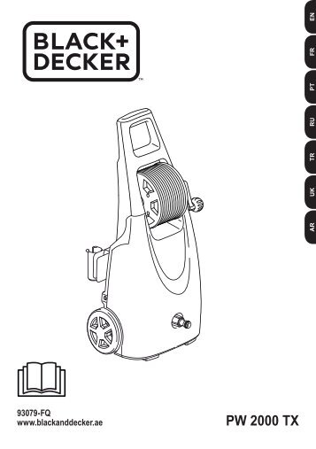 BlackandDecker Nettoyeurs Haute Pression- Pw2000tx - Type 1 - Instruction Manual (Européen)