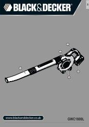 BlackandDecker Aspirateur Soufflant- Gwc1800 - Type H1 - Instruction Manual (Anglaise)