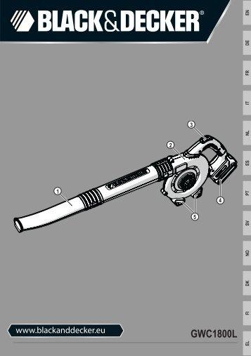 BlackandDecker Aspirateur Soufflant- Gwc1800 - Type H1 - Instruction Manual (Européen)