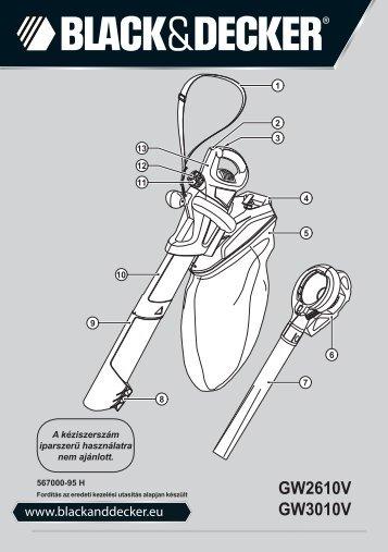 BlackandDecker Souffleur- Gw2610v - Type 2 - Instruction Manual (la Hongrie)