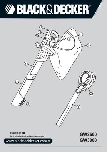 BlackandDecker Aspirateur Soufflant- Gw2600 - Type 5 - Instruction Manual (Turque)