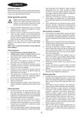 BlackandDecker Aspirateur Soufflant- Gw2600 - Type 5 - Instruction Manual (Turque) - Page 4
