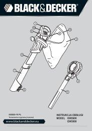 BlackandDecker Aspirateur Soufflant- Gw2600 - Type 5 - Instruction Manual (Pologne)