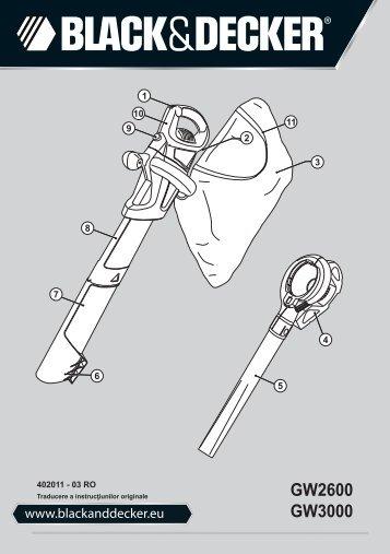 BlackandDecker Aspirateur Soufflant- Gw2600 - Type 6 - Instruction Manual (Roumanie)