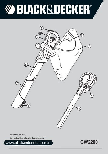 BlackandDecker Aspirateur Soufflant- Gw2200 - Type 1 - Instruction Manual (Turque)