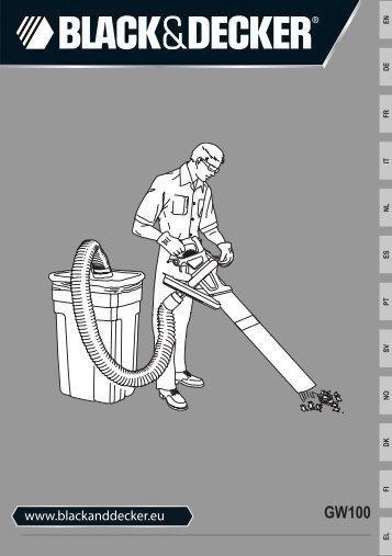 BlackandDecker Aspirateur Soufflant- Gw2200 - Type 1 - Instruction Manual (GW100)