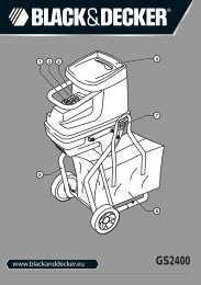 BlackandDecker Broyeur De Jardin- Gs2400 - Type 1 - Instruction Manual (Européen)
