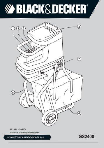 BlackandDecker Broyeur De Jardin- Gs2400 - Type 1 - Instruction Manual (Roumanie)